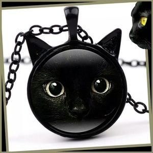 New! 3D Black Cat Necklace